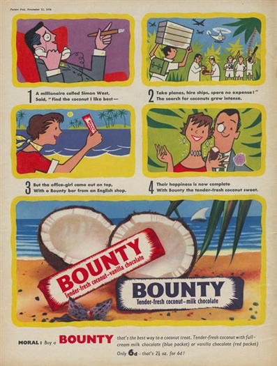 Image result for Bounty Bars 1960