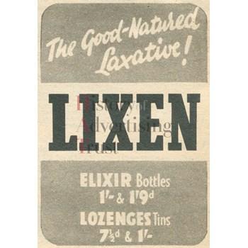 Press advertisement: Lixen laxative | Catalogue | History of